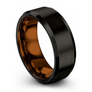 Dark Knight Copper Sun 8mm Wedding Band