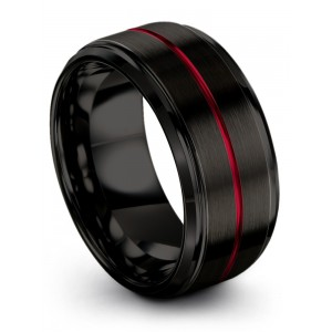 Dark Knight Crimson Allure 10mm Wedding Band