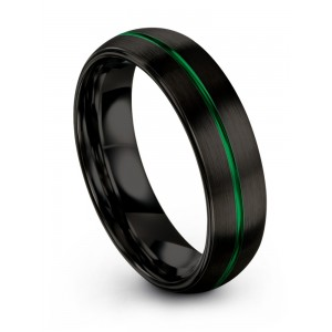Dark Knight Emerald Zing 6mm Wedding Band