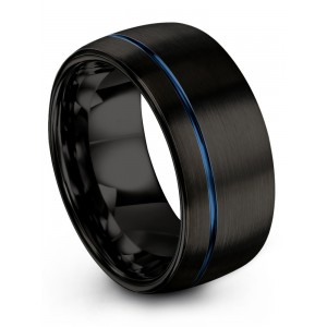 Dark Knight Empire Blue 10mm Wedding Band