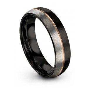Dark Knight Galena Gray Rose Gold 6mm