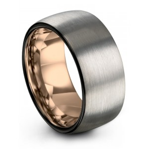 Dark Knight Rose Gold 10mm Wedding Band
