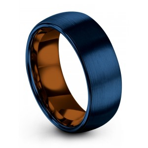 Empire Blue Copper Sun 8mm Wedding Band