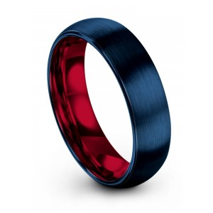 Empire Blue Crimson Allure 6mm Wedding Band