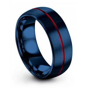 Empire Blue Crimson Allure 8mm Wedding Band