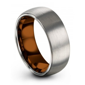 Galena Gray Copper Sun 8mm Wedding Band