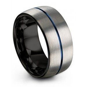 Galena Gray Dark Knight Empire Blue 10mm Wedding Band