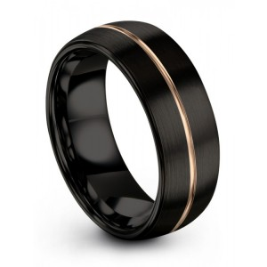 Galena Gray Dark Knight Rose Gold 8mm