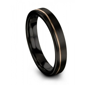 Dark Knight Rose Gold 4mm Wedding Band