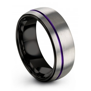 Galena Gray Dark Knight Royal Bliss 8mm Wedding Band
