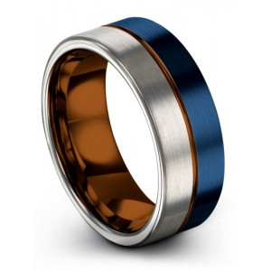 Galena Gray Empire Blue Copper Sun 8mm