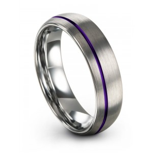 Galena Gray Royal Bliss 6mm Wedding Band
