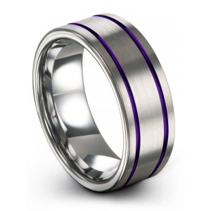 Galena Gray Royal Bliss 8mm Wedding Band