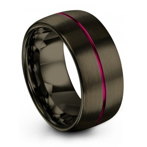 Moonlit Graphite Cosmic Flare 10mm Wedding Band