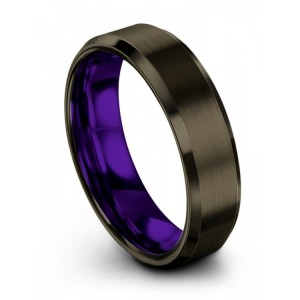 Moonlit Graphite Royal Bliss 6mm Wedding Band