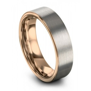 Rose Gold 6mm Wedding Band