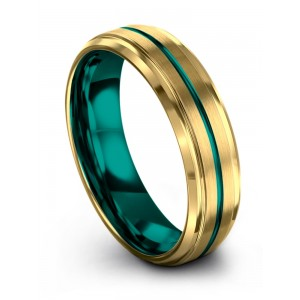 Chroma Color Collection Yellow Gold Aqua Teal 6mm