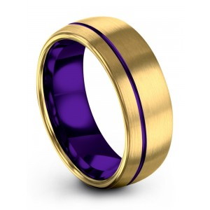 Yellow Gold Royal Bliss 8mm Wedding Band