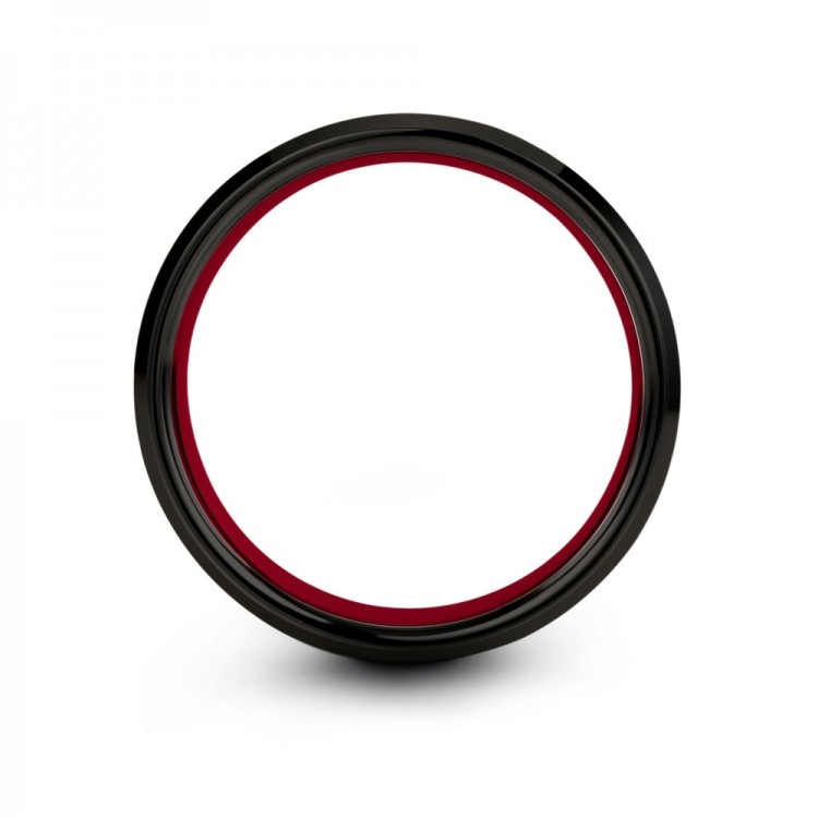 Crimson Allure 8mm Wedding Ring