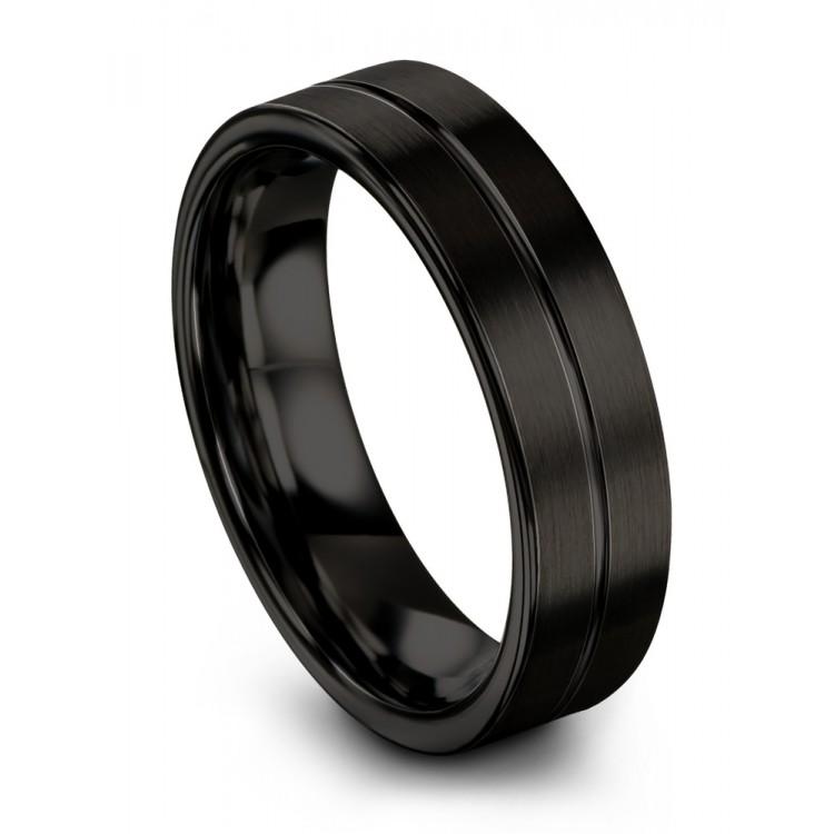 Dark Knight 6mm Wedding Ring