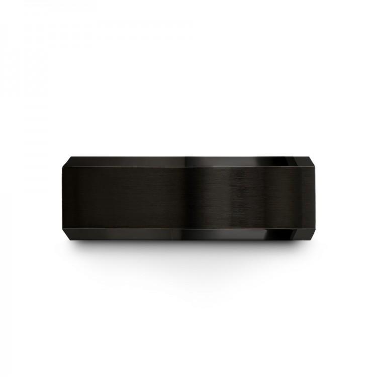 Dark Knight Copper Sun 8mm Black Wedding Ring