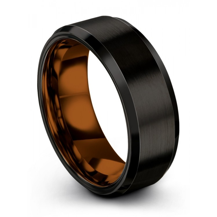 Dark Knight Copper Sun 8mm Wedding Ring