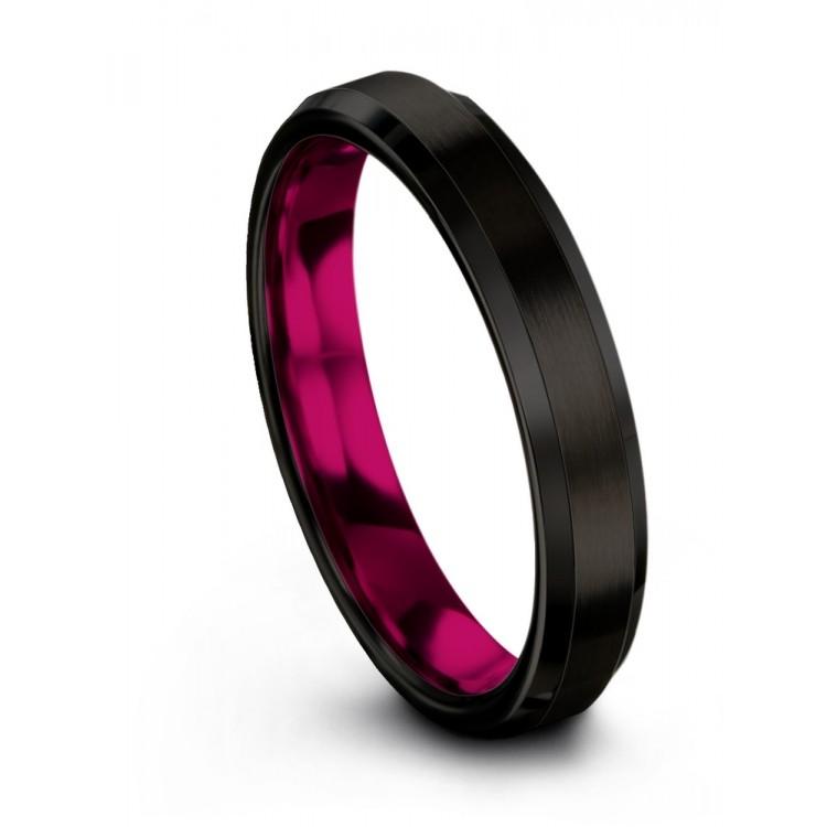 Dark Knight Cosmic Flare 4mm Wedding Ring