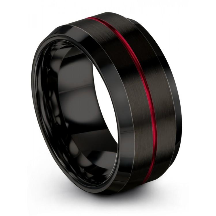 Dark Knight Crimson Allure 10mm Latest Wedding Ring