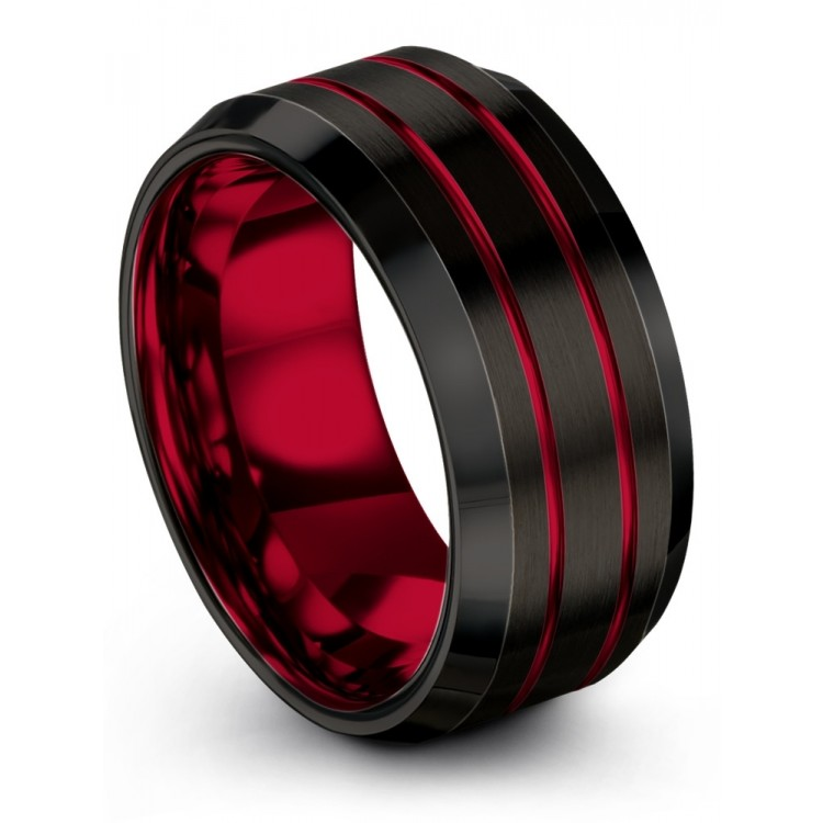 Dark Knight Crimson Allure 10mm Latest Wedding Rings
