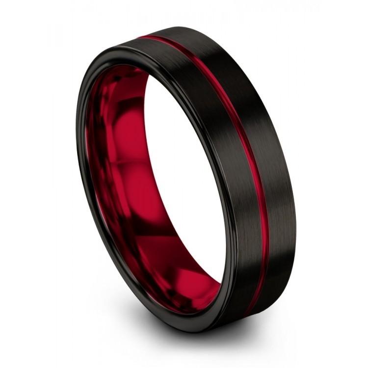 Dark Knight Crimson Allure 6mm Wedding Ring