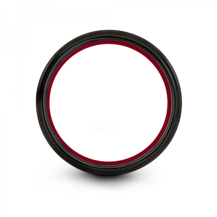 Dark Knight Crimson Allure 8mm Latest Wedding Band