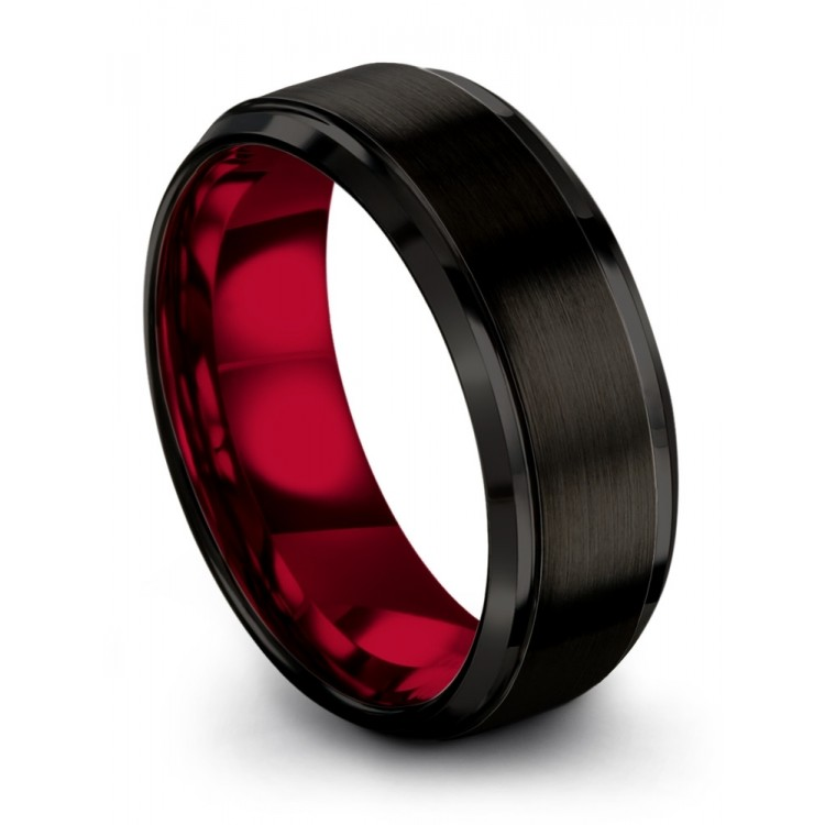 Dark Knight Crimson Allure 8mm Latest Wedding Ring For Women