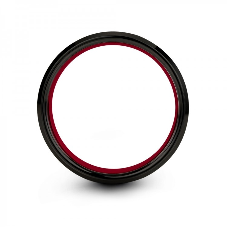 Dark Knight Crimson Allure 8mm Mens Wedding Band