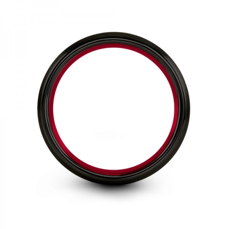 Dark Knight Crimson Allure 8mm Wedding Rings