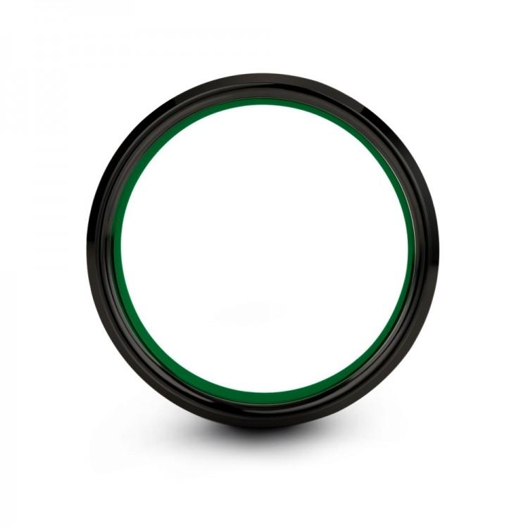 Dark Knight Emerald Zing 10mm Women Wedding Ring