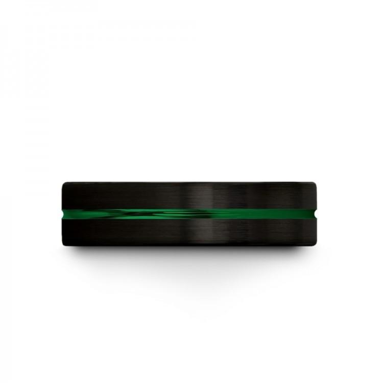 Dark Knight Emerald Zing 6mm Unique Wedding Ring