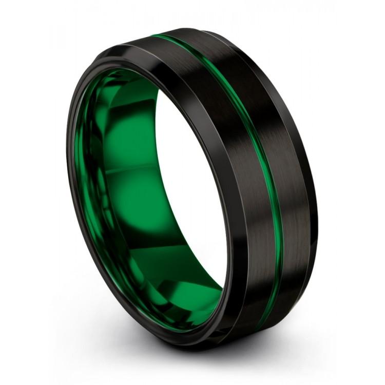 Dark Knight Emerald Zing 8mm latest Wedding Ring