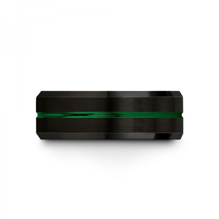 Dark Knight Emerald Zing 8mm latest Women Wedding Ring