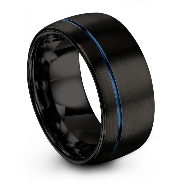 Dark Knight Empire Blue 10mm Fancy Wedding Ring