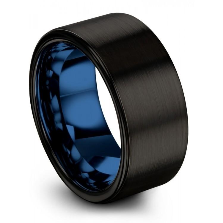 Dark Knight Empire Blue 10mm Wedding Ring