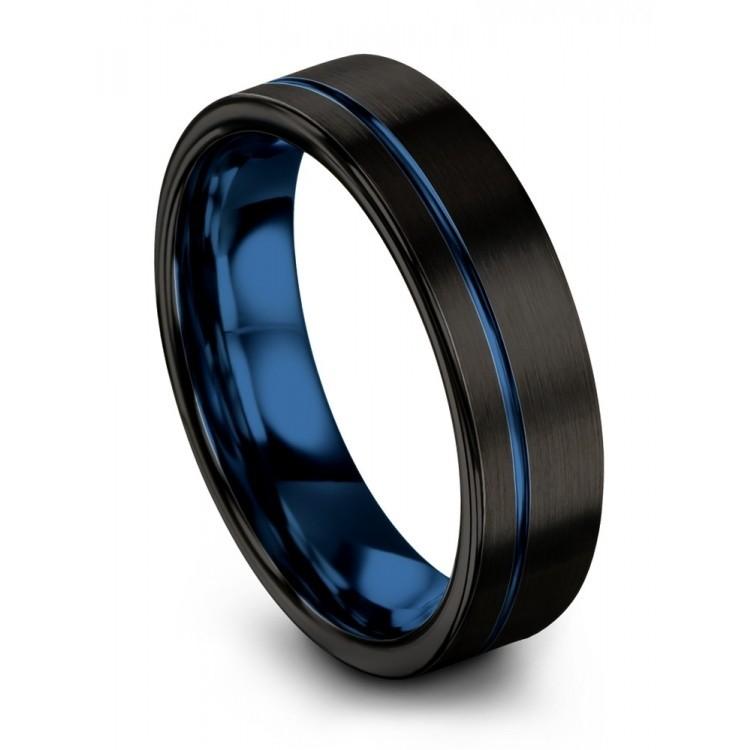 Dark Knight Empire Blue 6mm Wedding Ring