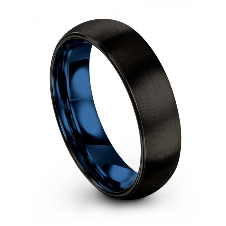 Dark Knight Empire Blue 6mm Wedding Rings