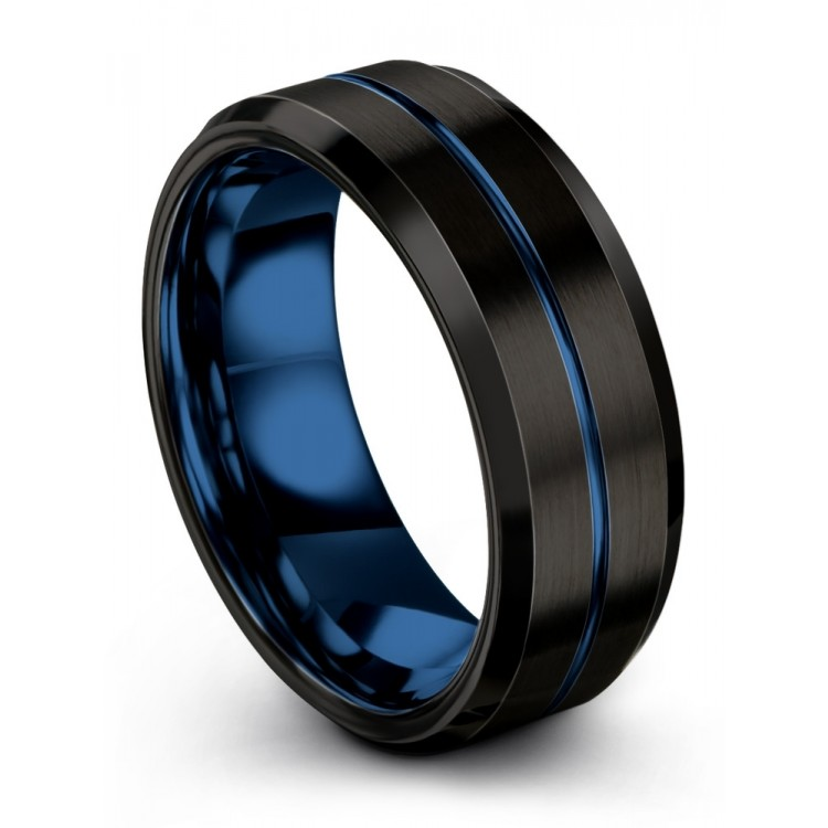Dark Knight Empire Blue 8mm latest Women Wedding Ring