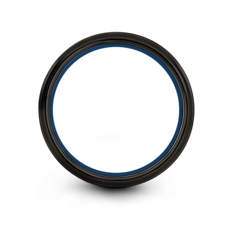 Dark Knight Empire Blue 8mm Unique Wedding Bands