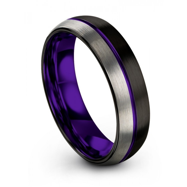 Dark Knight Galena Gray Royal Bliss 6mm Wedding Bands