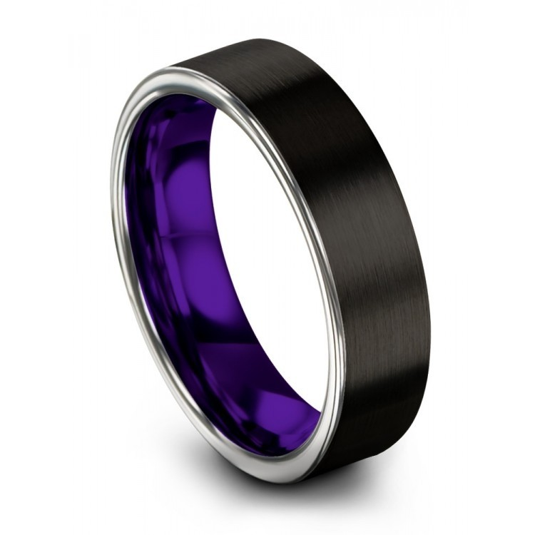 Dark Knight Galena Gray Royal Bliss 6mm Wedding Ring