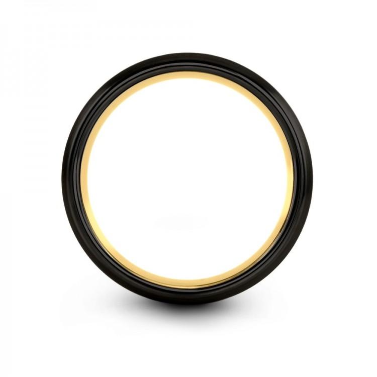 Dark Knight Yellow Gold 10mm Women Wedding Ring