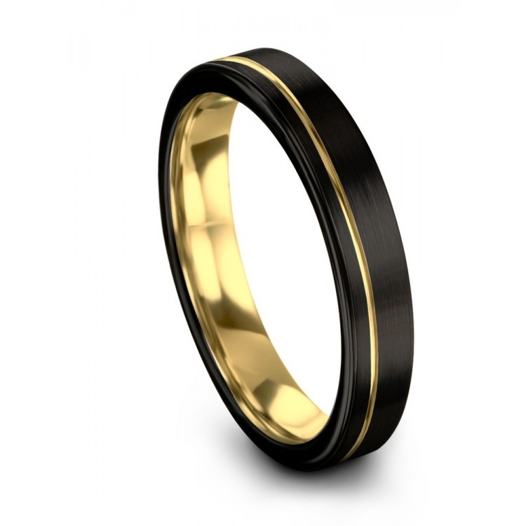 Dark Knight Yellow Gold 7mm Unique Wedding Band