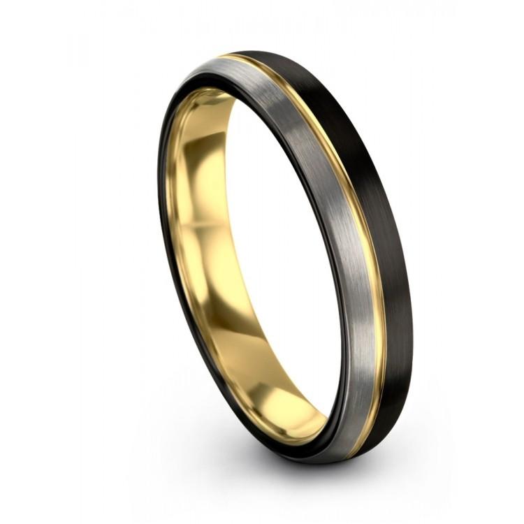 Dark Knight Yellow Gold 8mm Latest Couple Wedding Ring