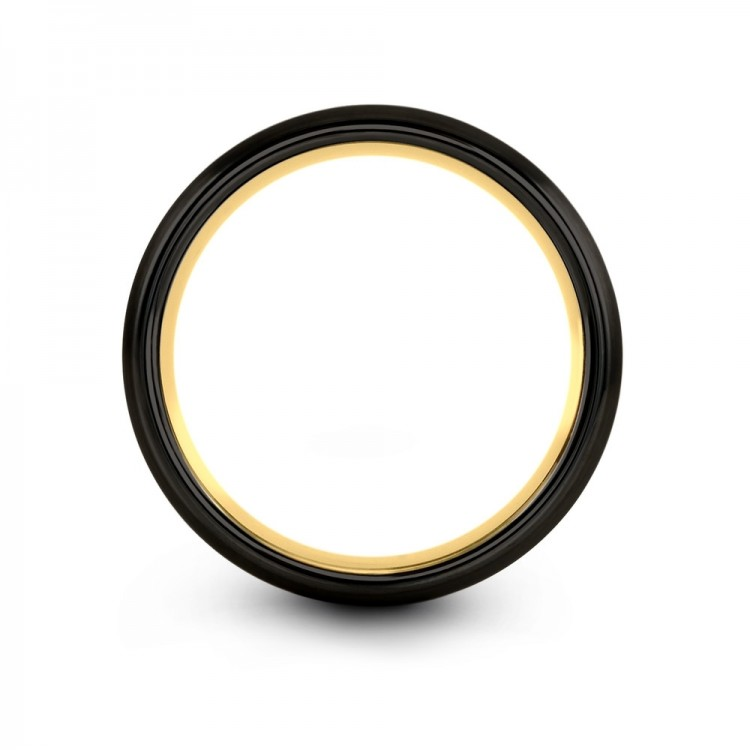Dark Knight Yellow Gold 8mm Latest Unique Wedding Ring
